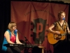 Catie Curtis, with Jenna Lindbo, at Club Passim, Cambridge MA. 29 May 2012