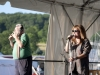 Professor Louie and the Crowmatix. Dave McCloskey on hands. Falcon Ridge Folk Festival 2011