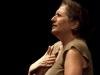 Nancy Kaplan on hands. Falcon Ridge Folk Festival 2011. Friday Night Song Swap.