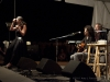 Red Horse: Lucy Kaplansky, John Gorka, Eliza Gilkyson. Jody Gill on hands. Falcon Ridge Folk Festival 2011. Friday Night Song Swap.