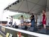 John Gorka, with Lucy Kaplansky and Eliza Gilkyson. Nancy Kaplan on hands. Falcon Ridge Folk Festival 2011