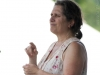 John Gorka. Nancy Kaplan on hands. Falcon Ridge Folk Festival 2011
