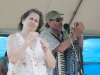 Professor Louie and the Crowmatix. Nancy Kaplan on hands. Falcon Ridge Folk Festival 2011. Worskhop stage: Our Roots are Showing.