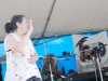 Nancy Kaplan on hands, Susan Werner on keys. Falcon Ridge Folk Festival 2011. Workshop stage: Rolling in the Aisles.