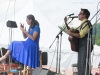 Jody Gill on hands, Chris O\'Brien. Most Wanted Song Swap. Falcon Ridge Folk Festival 2011