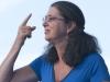 Jody Gill on hands, with Susan Werner. Falcon Ridge Folk Festival 2011