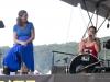 Jody Gill on hands, Trina Hamlin (with Susan Werner). Falcon Ridge Folk Festival 2011