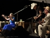 Greg Brown with Bo Ramsey.  Jody Gill on hands. Falcon Ridge Folk Festival 2011
